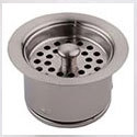 extra deep disposal flange with basket stopper