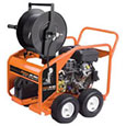 JM-3055 gas powered jet for cleaning drains