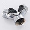 Zinc hose wye fitting