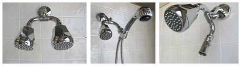 Dual shower heads