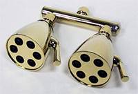 Polished Brass 6-jet dual showerhead