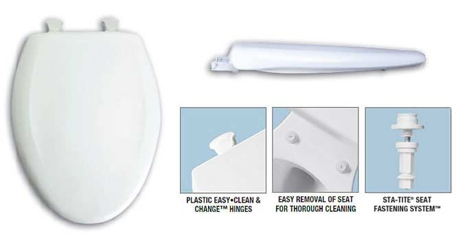 bemis toilet seat hinges. Easy clean and change Bemis toilet seat Colored seats to match your current or discontinued