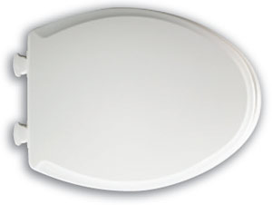 Image of easy closing toilet seat