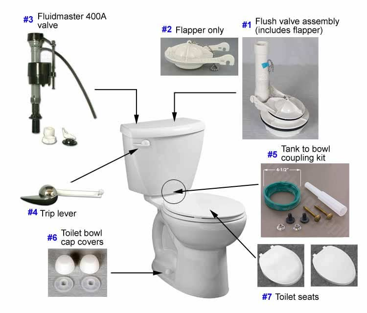 eljer toilet repair parts for the diplomat series toilet