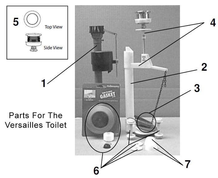 Eljer Versailles Series Toilet Repair Parts