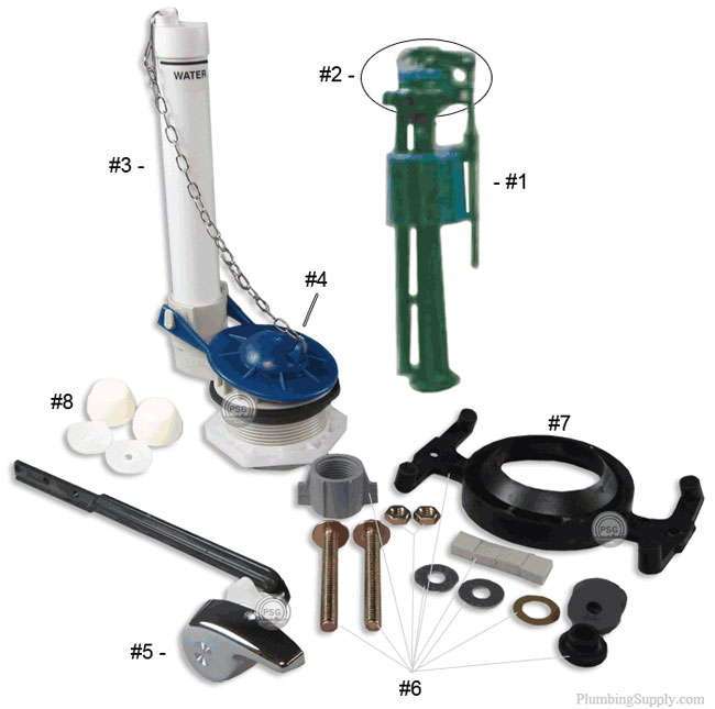 eljer toronto savoy series toilet repair parts
