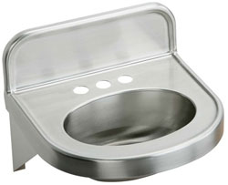 Example of stainless steel ADA compliant wall hung lav sink