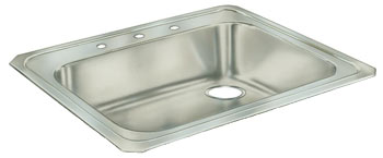 Example of an ADA compliant Celebrity series single bowl sink