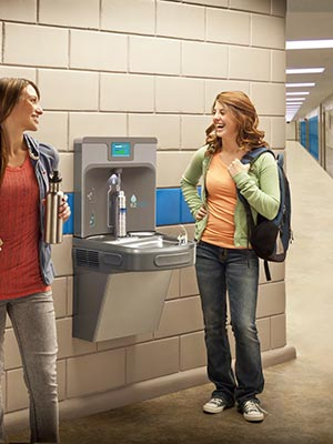 Example of EZH2O water bottle filler installed