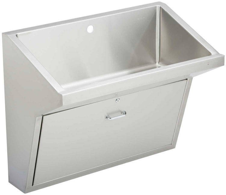 wall hung scrub sink features single station slant front scrub up sink ...