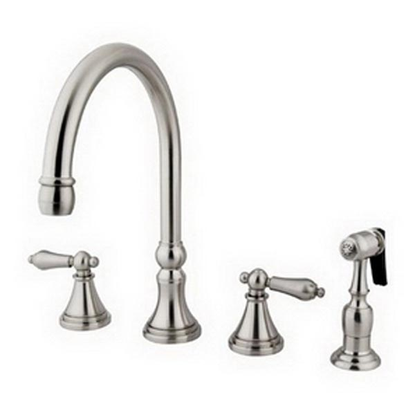 Satin Nickel 8in widespread kitchen faucet - Widespread Kitchen Faucets