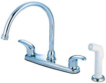 image of EB6791LL gooseneck kitchen faucet with side spray