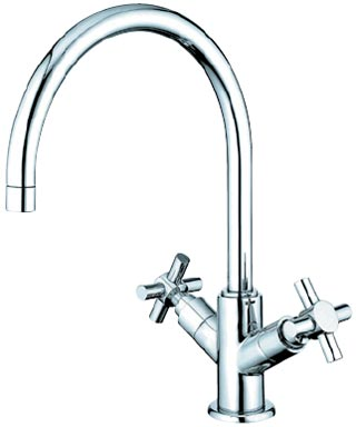 image of ES8751JXLS gooseneck kitchen faucet with cross handles