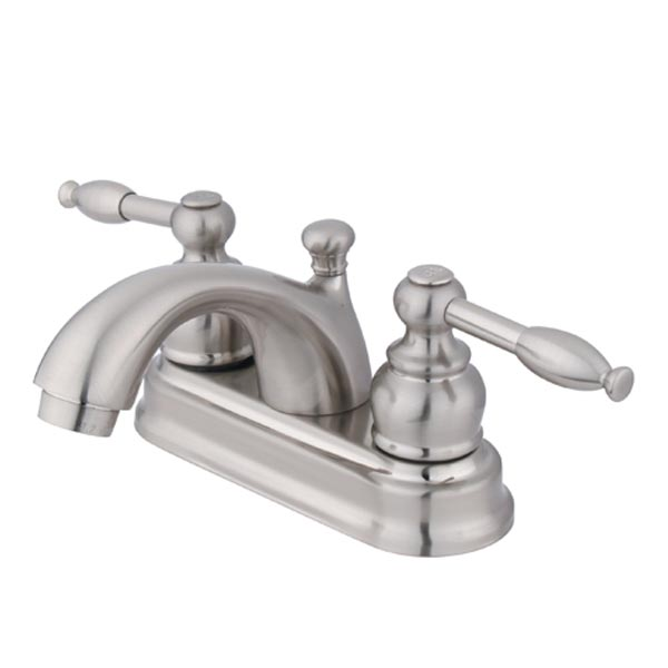 EOD satin nickel two handle bathroom faucet