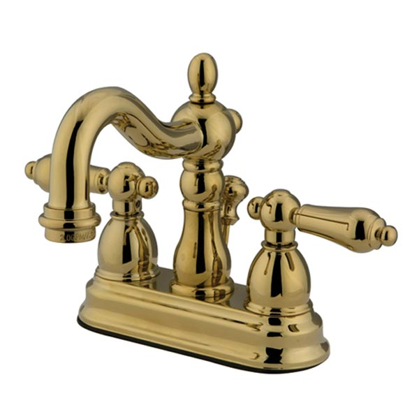 EOD New Orleans polished brass two handle bathroom faucet