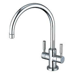 image of ES8771DLLS gooseneck kitchen faucet with lever handles