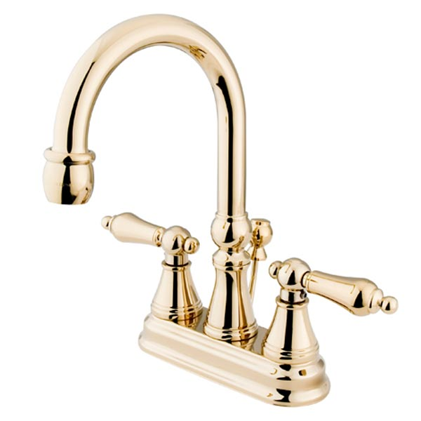 Polished Brass two handle bathroom faucet