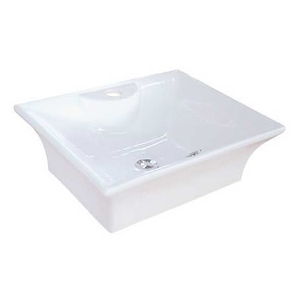 Square shaped porcelain vessel sink