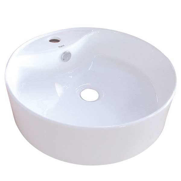 Cylinder shaped porcelain vessel sink