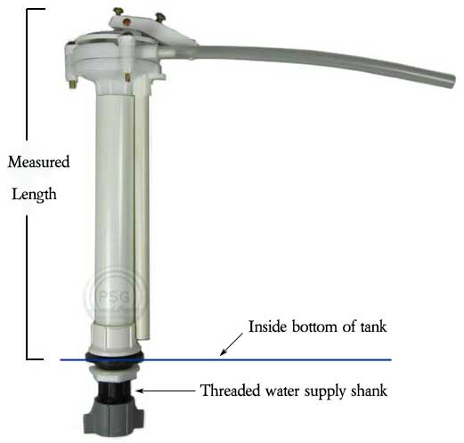 A The Toilet Fill Valve Measurements We