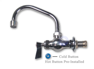 Fisher Stainless Steel Single Hole Commercial Faucets