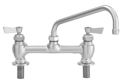 Fisher 8 inch center to center deck mount faucets with swing spout