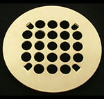 Florestone Polished Brass Drain Cover