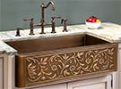 Example of copper farmhouse sink