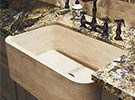 Example of marble farmhouse sink