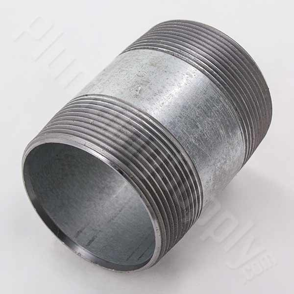 Galvanized pipe fittings nipples common and hard to