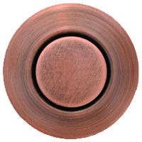 Round garbage disposer air switch in antique copper