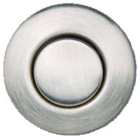 Round garbage disposer air switch in brushed stainless