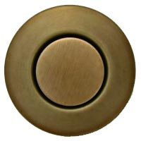 Round garbage disposer air switch in English bronze