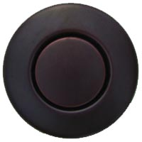 Round garbage disposer air switch in mahogany bronze