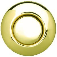 Round garbage disposer air switch in PVD brass