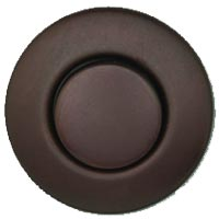 Round garbage disposer air switch in weathered copper