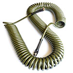 Coiled outdoor hose