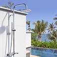 Deluxe stainless steel wall mounted pool shower