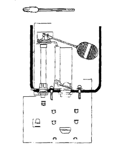 Toilet parts diagram for 28-590 and 28-796 Gerber tanks
