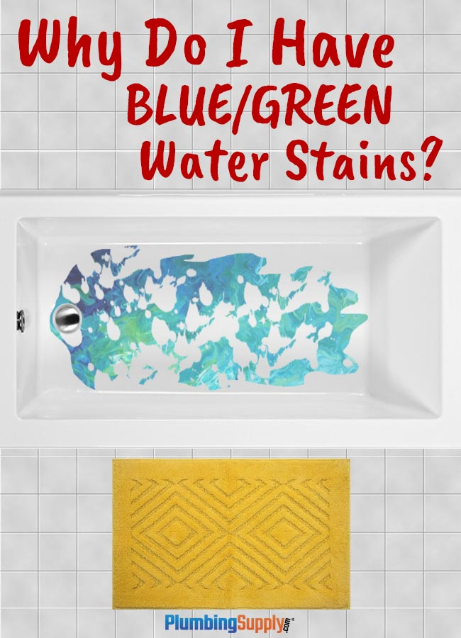 Have you ever had blue or green staining on fixtures? It happens! But why? And what can you do about it?