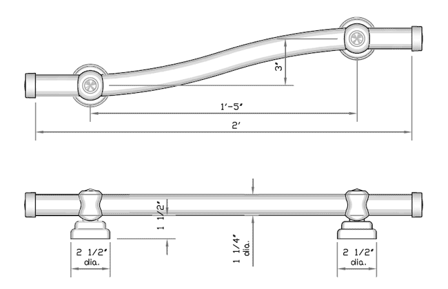 Designer Grab Bars for the disabled or those in need of support