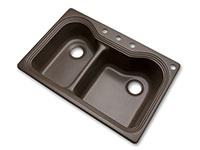 Photo of Breckenridge offset double bowl kitchen sink