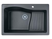 Ascend top mount single bowl kitchen sink