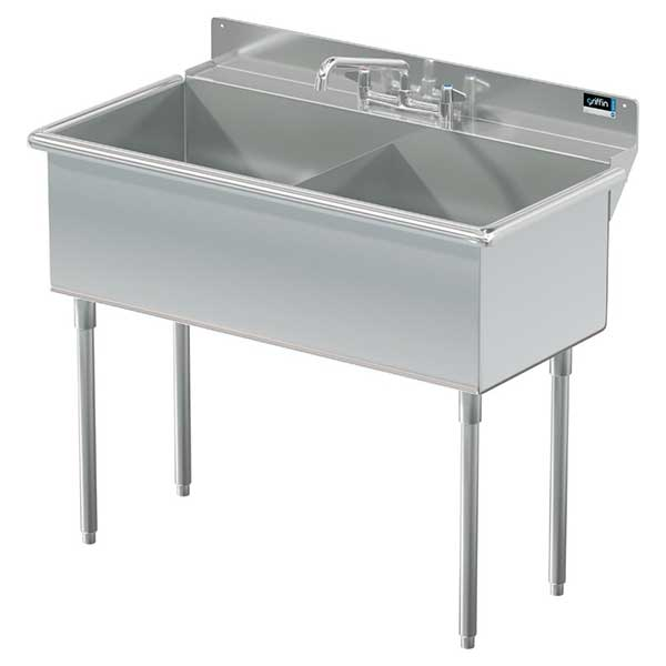 Griffin Stainless Steel Commercial Square Corner Sinks