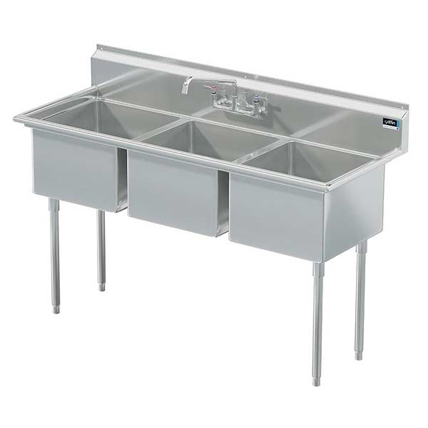 Griffin coved corner commercial sink