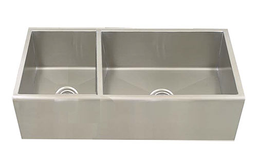 Stainless Steel Double Bowl Apron Front Sink With Small Bowl On Left Large  Bowl On RIGHT