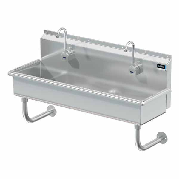 Griffin two-station hand wash sinks
