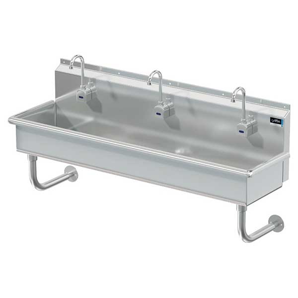 Griffin three-station hand wash sinks