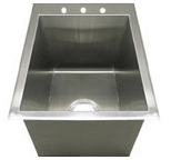 Griffin squared corner single bowl sink