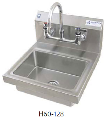 Commercial Hand Sink : 16 gauge wall mount Griffin handwash sink